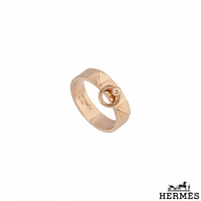 Hermès Rose Gold Collier De Chien Ring